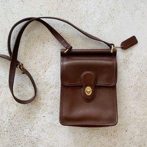 🍂 VINTAGE COACH Murphy Willis Crossbody Bag Brown